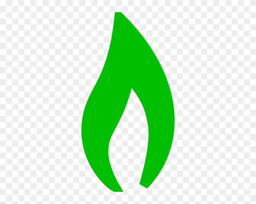 Green Flame Clip Art At Clker - Green Fire Clipart #24389