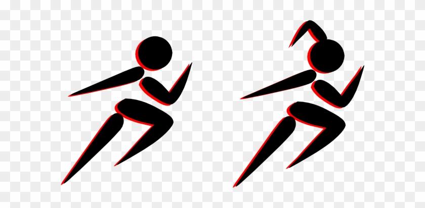 Boy And Girl Running Clip Art At Vector Clip Art - Girl Running Shoes Clipart #24392