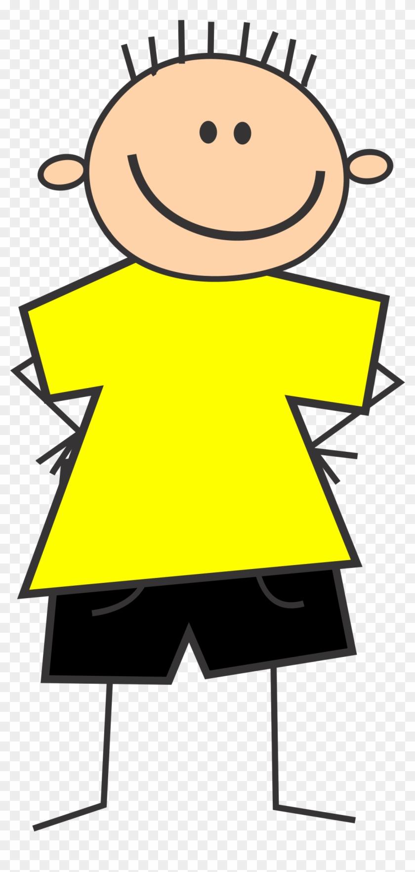 Splendid Design Ideas Clip Art Boy Clipart With Yellow - Yellow Shirt Clipart #24406