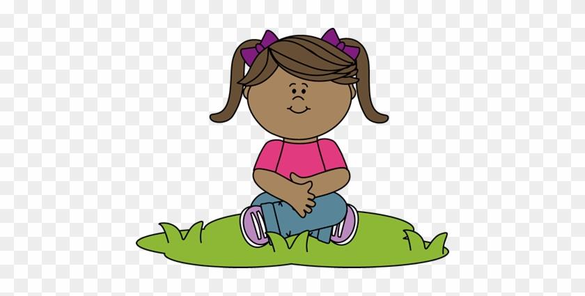 Grass Clipart For Kid - Sit Criss Cross Clipart #24411