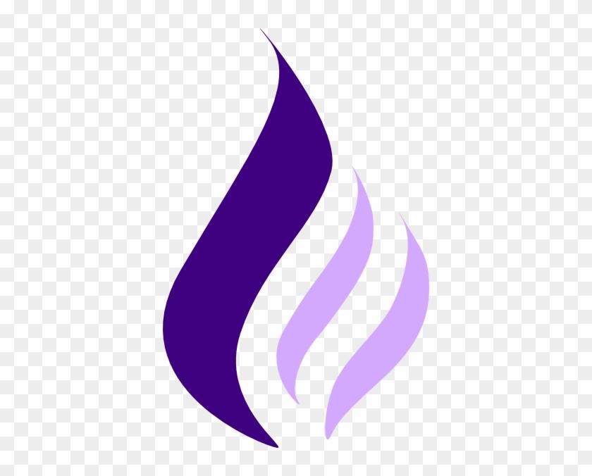 Purple Flame Clipart Transparent #24461