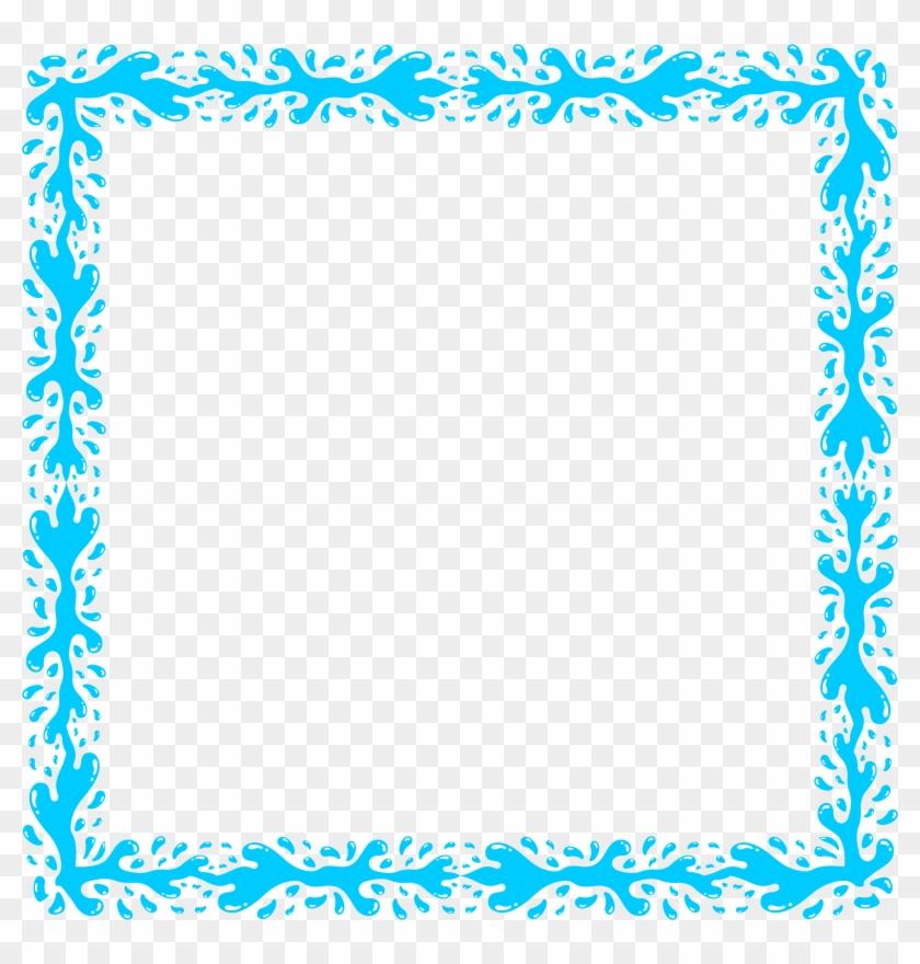 Big Image - Transparent Blue Frame Png #24474