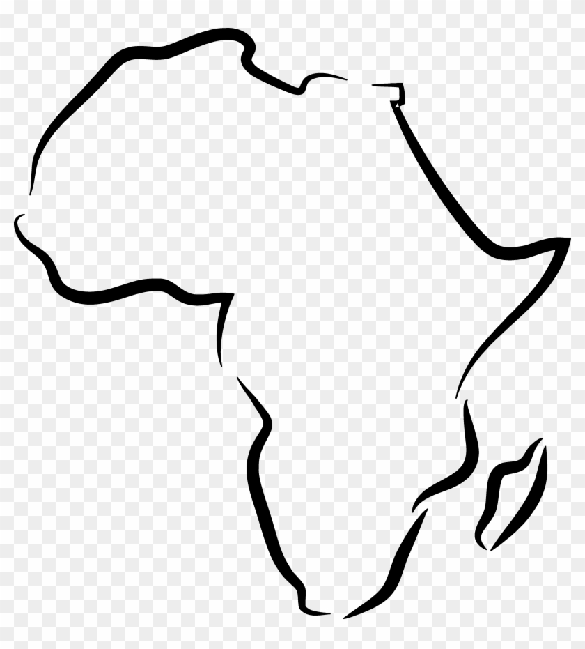 Earth Clipart Black And White Africa - Africa Outline Tattoo Design #24502
