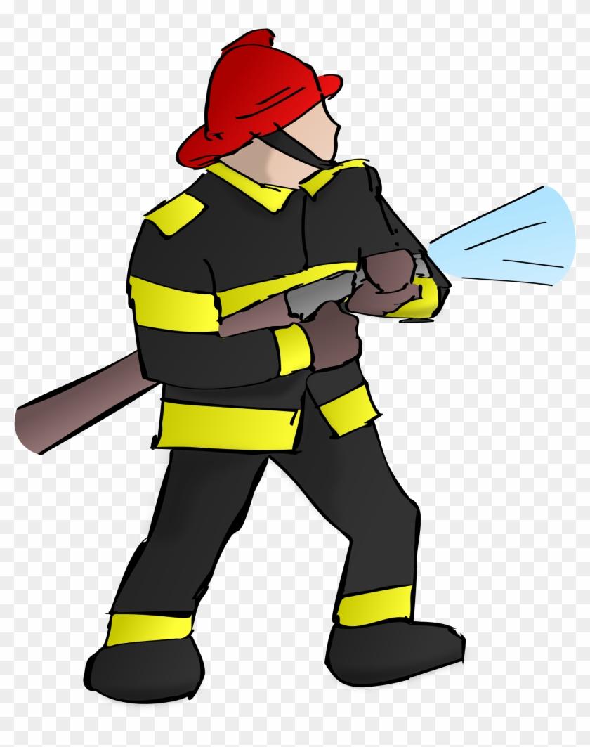 Firefighter Clipart Transparent - Firefighter Clipart #24497