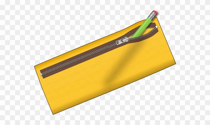 Pencil Case Clip Art - Yellow Pencil Case Clipart #24573