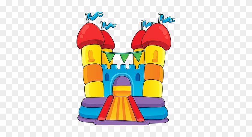 Bouncy Castle Clipart - Jumping Castle Clip Art #24562