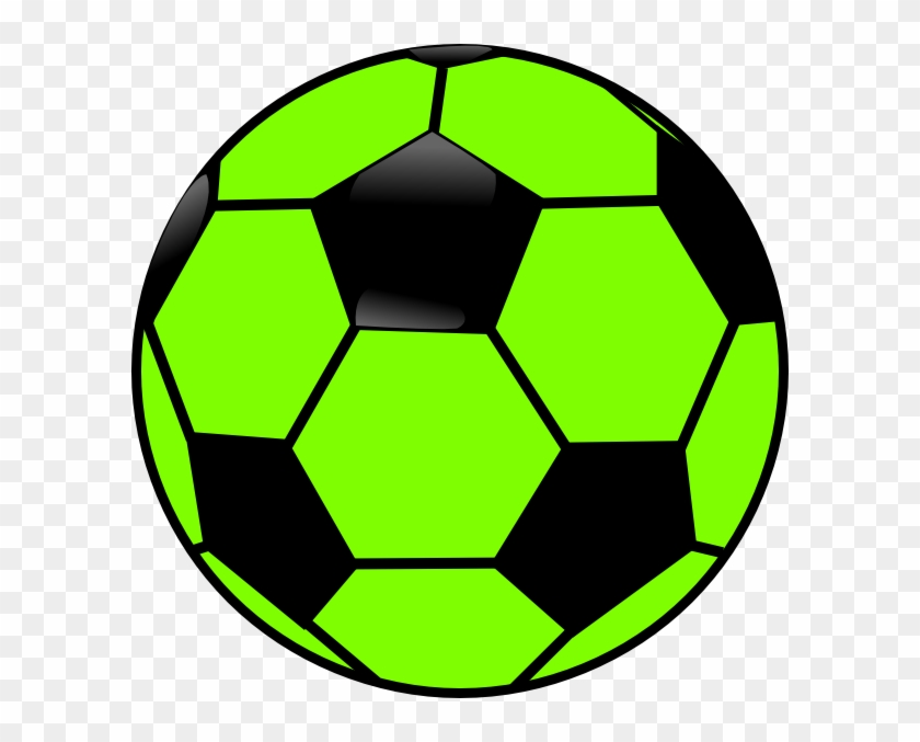 Green And Black Soccer Ball Clip Art - Green And Black Soccer Ball #24571