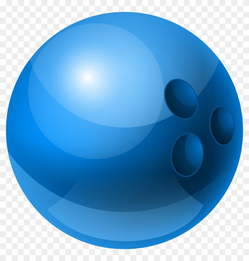 Blue Bowling Ball Png Clipart - Blue Bowling Ball Clip Art #24618
