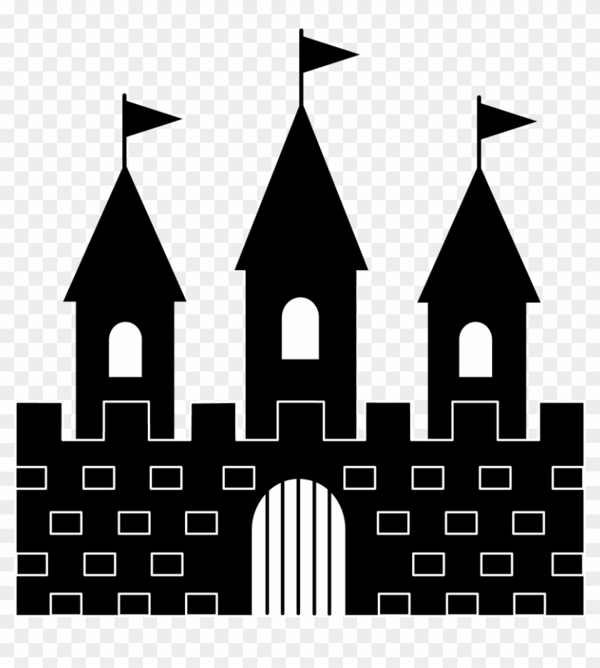 Princess Castle Clipart Black And White Free - Palace Silhouette #24602