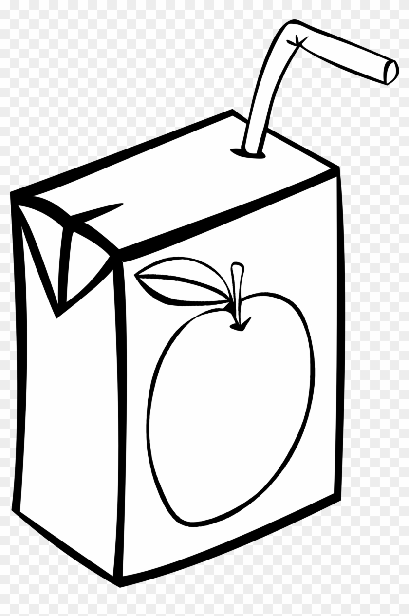 Clip Art Juice Carton Drink Clipart Pencil And In Color - Juice Box Clipart Black And White #24609