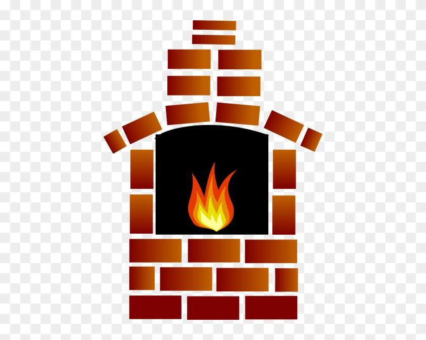 Brick Oven Clip Art - Cartoon Fireplace #24615