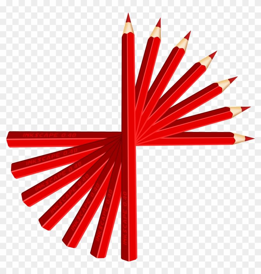 Red Pencils Clip Art Download - Red Pencils Clipart #24621