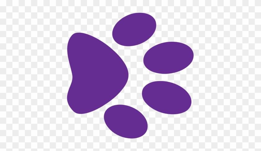 Purple Paw Print Clip Art Paw Clipart Purple Pencil - Purple Paw Print Clip Art #24645