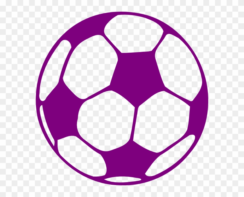 Purple And White Soccer Ball #24667