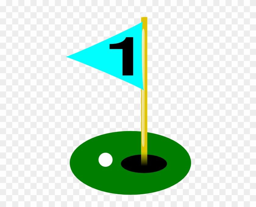 Golf Ball Golf Flag 1st Hole With Ball Clip Art At - Golf Flag Hole 8 #24686