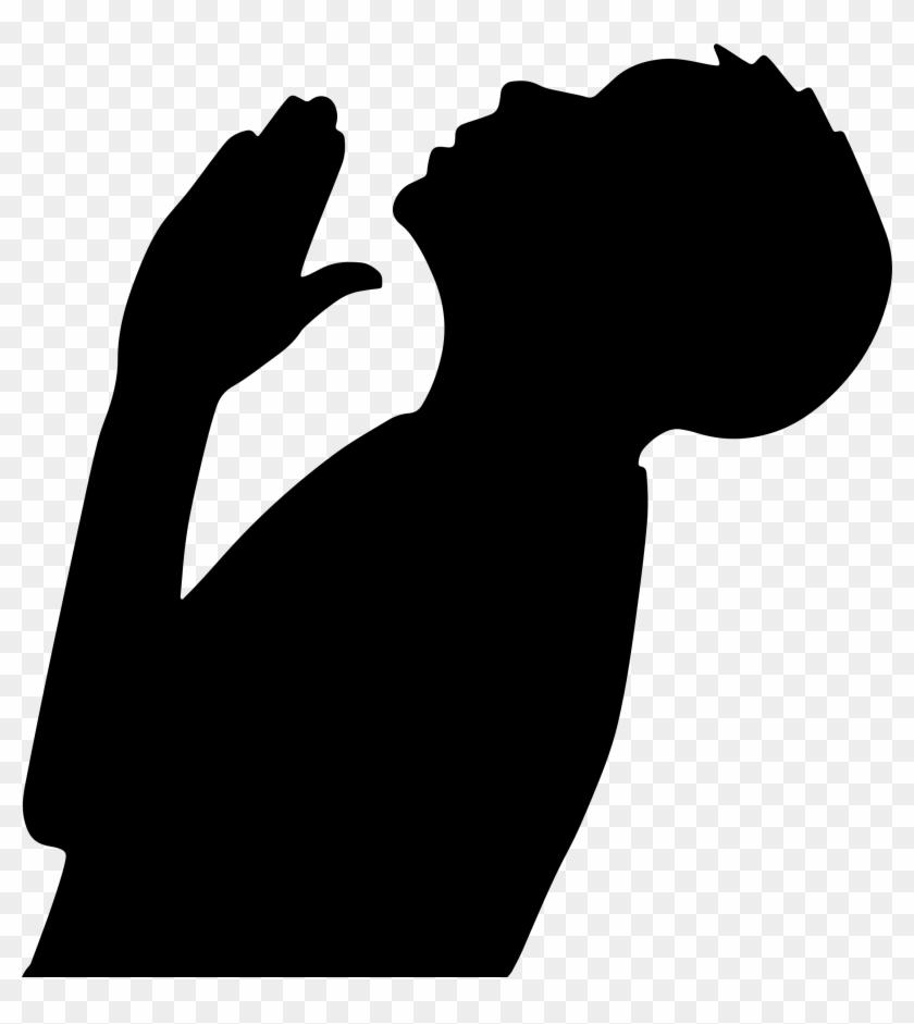 Clip Art Charming Boy Silhouette Clip Art Boy Silhouette - Silhouette Praying #24697
