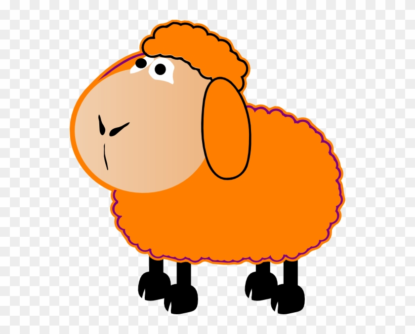 Sheep Colouful Pencil And In Color Colouful Clip Art - Orange Sheep Clipart #24704
