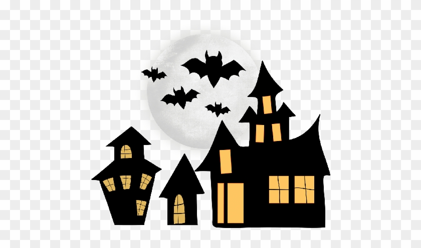 Halloween Spooky House Clip Art - Clip Art Halloween House #24716