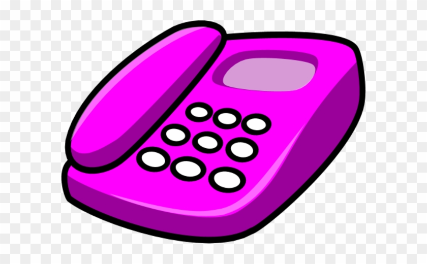 Clip Art Of Telephone Ringing In Earth Colors Clipart - Telephone Clip Art Pink #24721