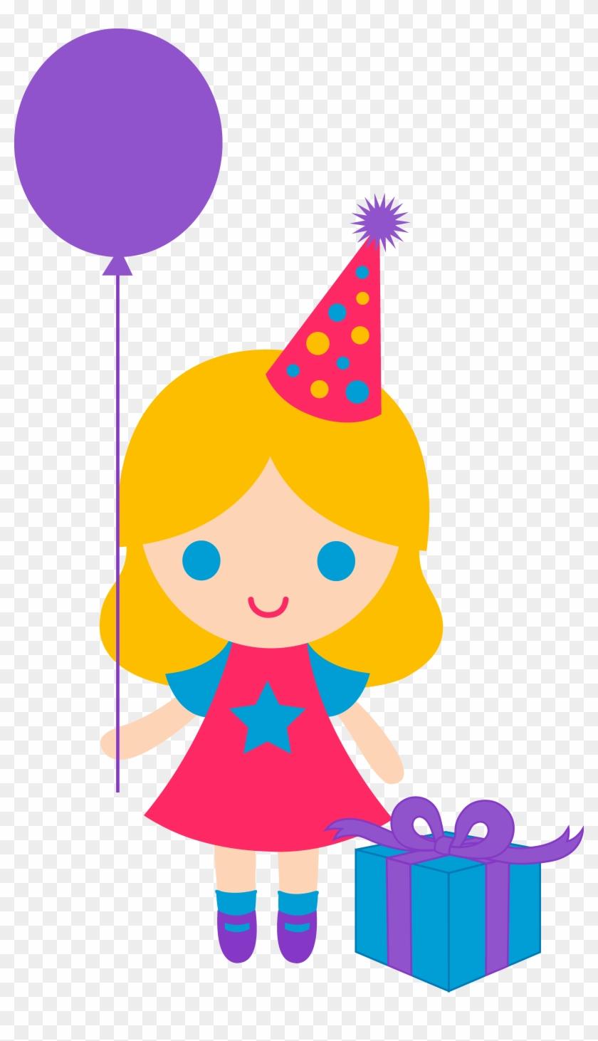Boy Birthday Cake Clipart - Birthday Girl Clipart #24745