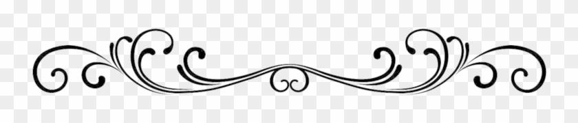 Flower Divider Clipart - Design Single Line Border #24758