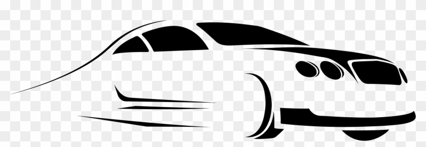 Stylized Car Silhouette Line Art Icons Png - Lineart Car #24771