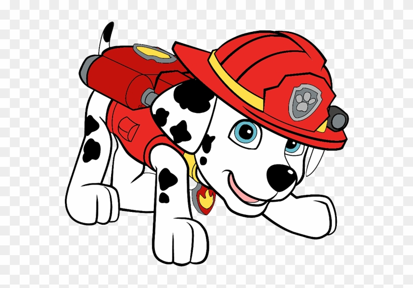 Images Were Colored And Clipped By Cartoon Clipart - Paw Patrol Marshall Cartoon #24787