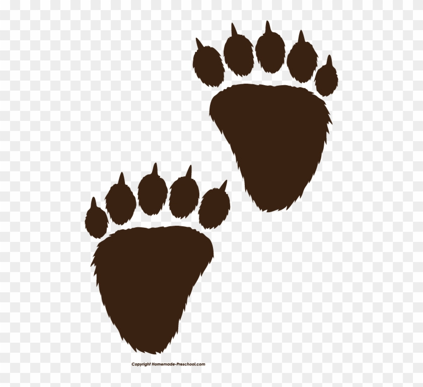Clipart Super Idea Bear Claw Clipart Paw Print Black - Bear Paws Clip Art Transparent #24800