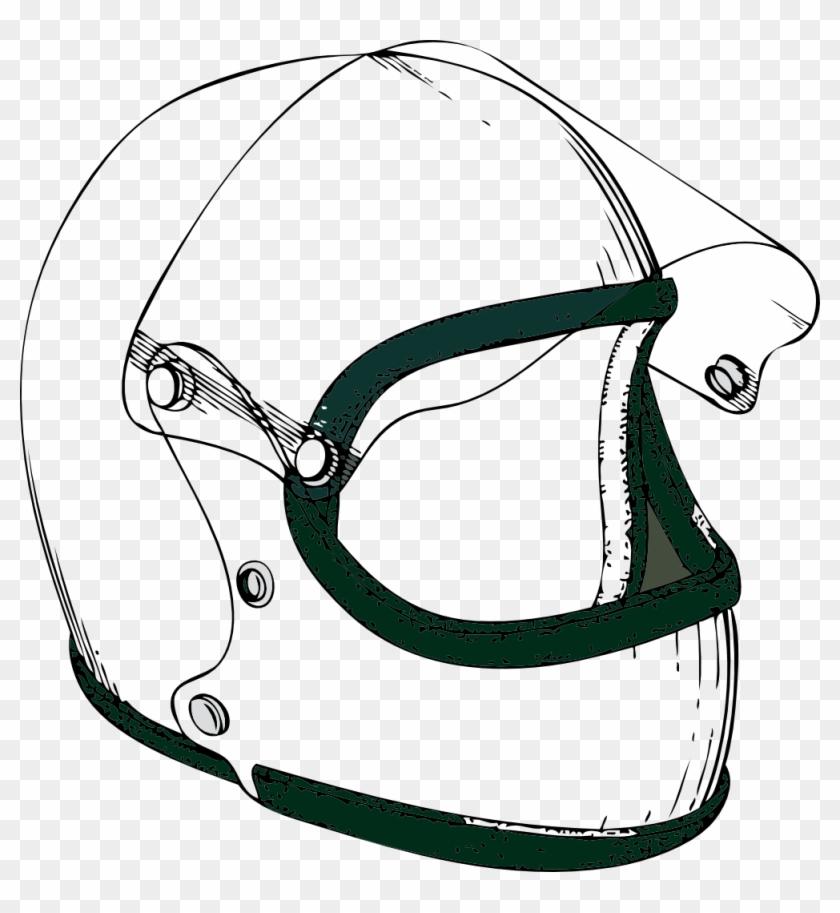 Crash Helmet Black White Line Art 999px 228 - Helmet Black And White #24824