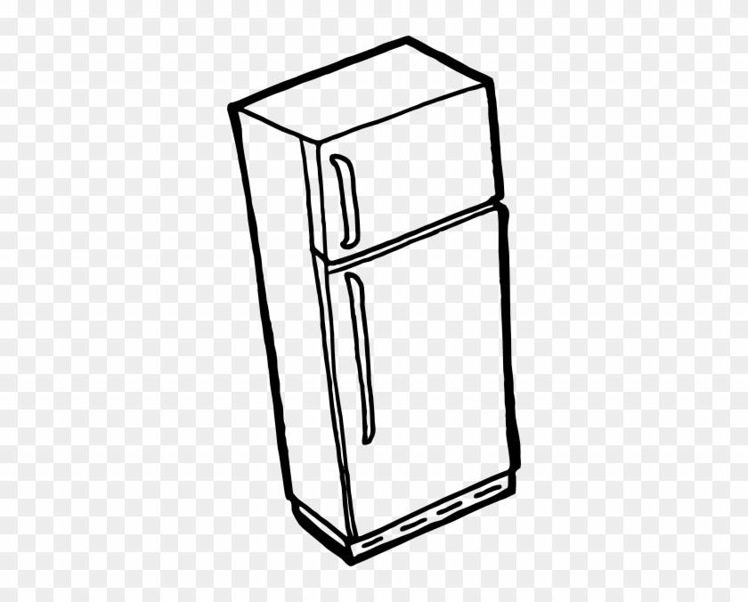 Free Vector Fridge Outline Clip Art - Refrigerator Clip Art #24877