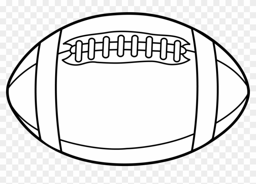 Afl Football Clipart Clip Art - Football Black And White #24890