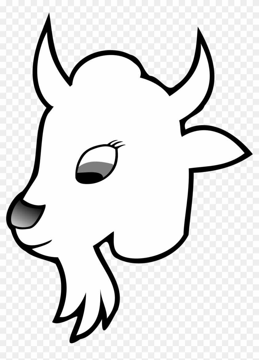 Goat 2 Line Art Goat Head Black White Line Art Christmas - Cau Lac Bo Bong Da #24911