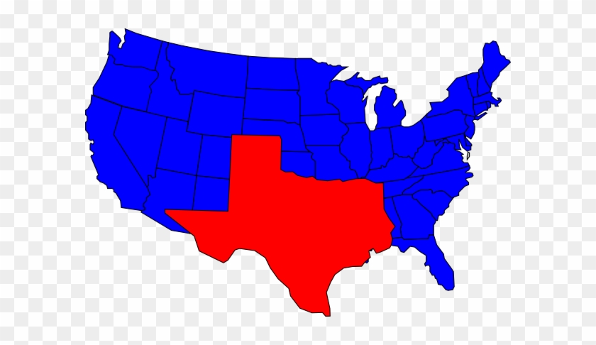 State Of Texas Texas State Line Art Free Clip Clipart - If The South Won The Civil War Map #24921