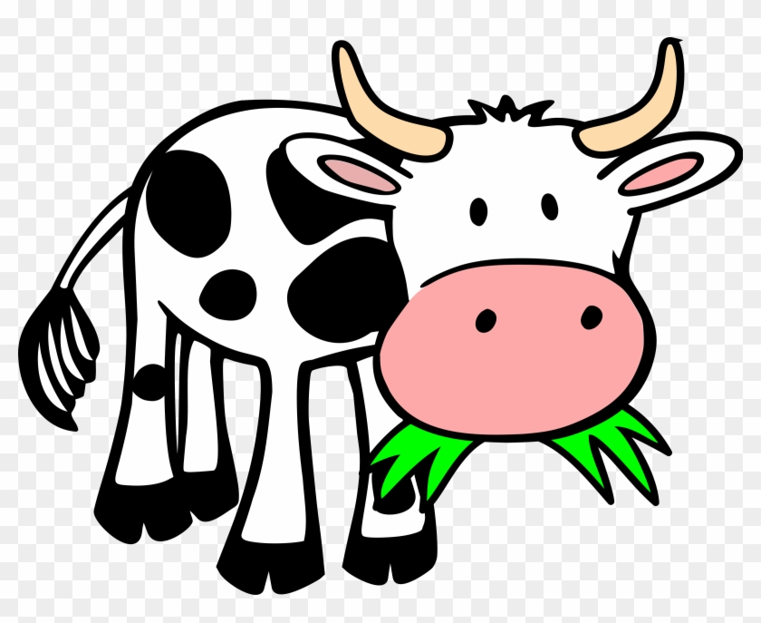 Animals Eating Clipart Grass Clip Art Library - Cow Eating Grass Clipart #24924
