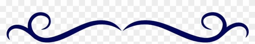 Single Line Border Clipart Dark Blue Swirl Divider - Single Line Border Clipart Dark Blue Swirl Divider #24937