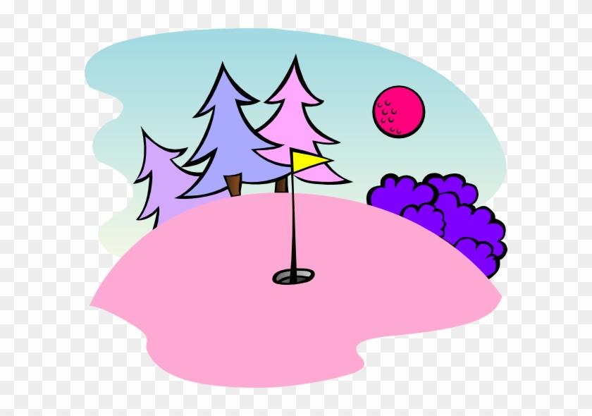 Golf Ball Clipart Pink - Pink Golf Clipart #24955