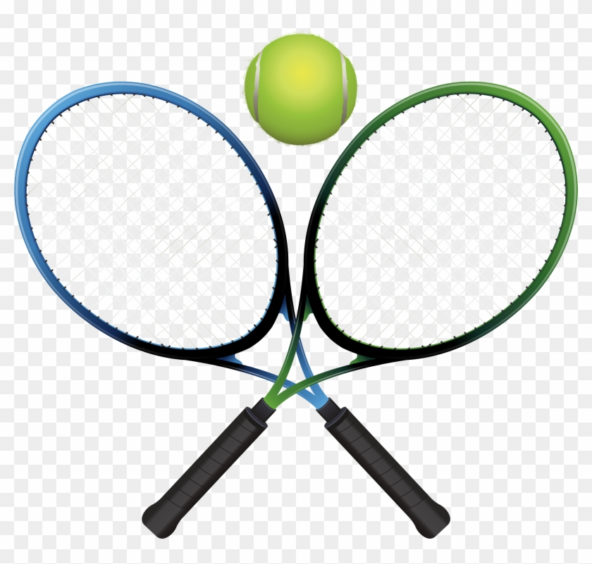 Tennis Rackets And Ball Png Clipart - Racket #24990
