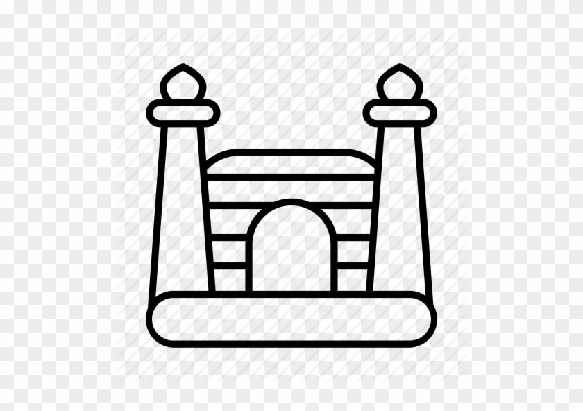 Bouncy Castle, Bouncy House, Childhood, Inflatable, - Vector Graphics #24981