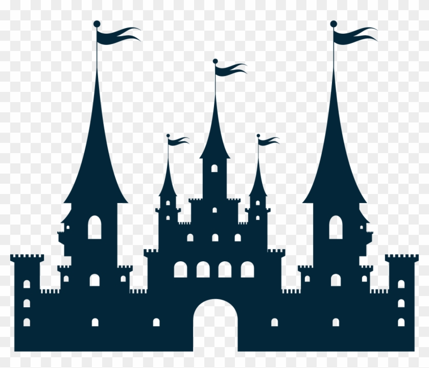 Castle Silhouette Clip Art - Princess Castle Vector Free Download #24986