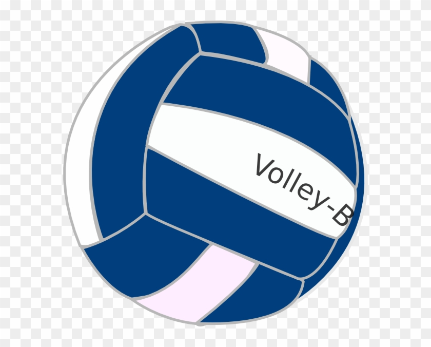 Blue And White Volleyball Clipart #25003