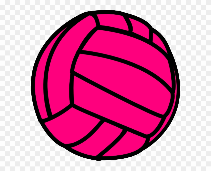 Pink Volleyball Clip Art - Pink Volleyball Clip Art #25004