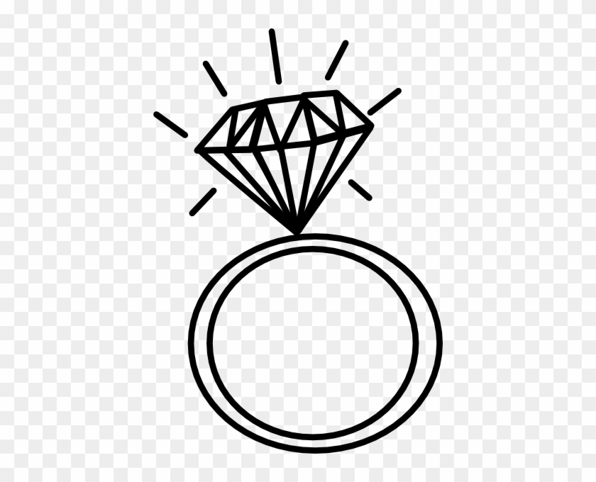 Diamond Ring Clip Art At Clker Com Vector Clip Art - Wedding Ring Drawing #25078