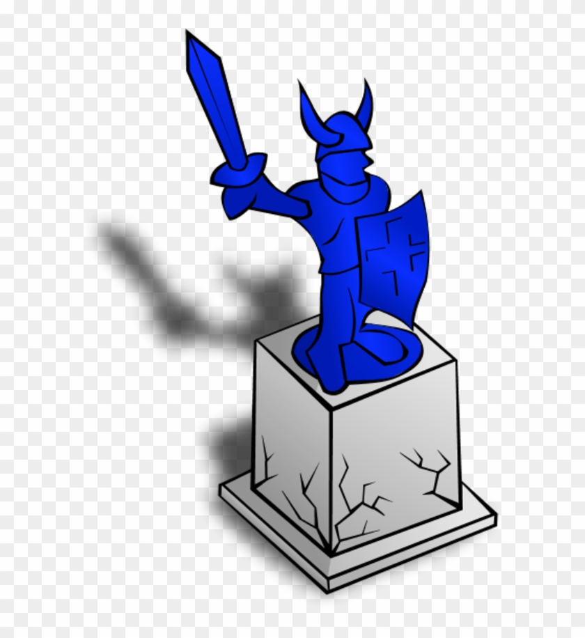 Knight Statue Holding Sword And Shield - Statue Clip Art #25093