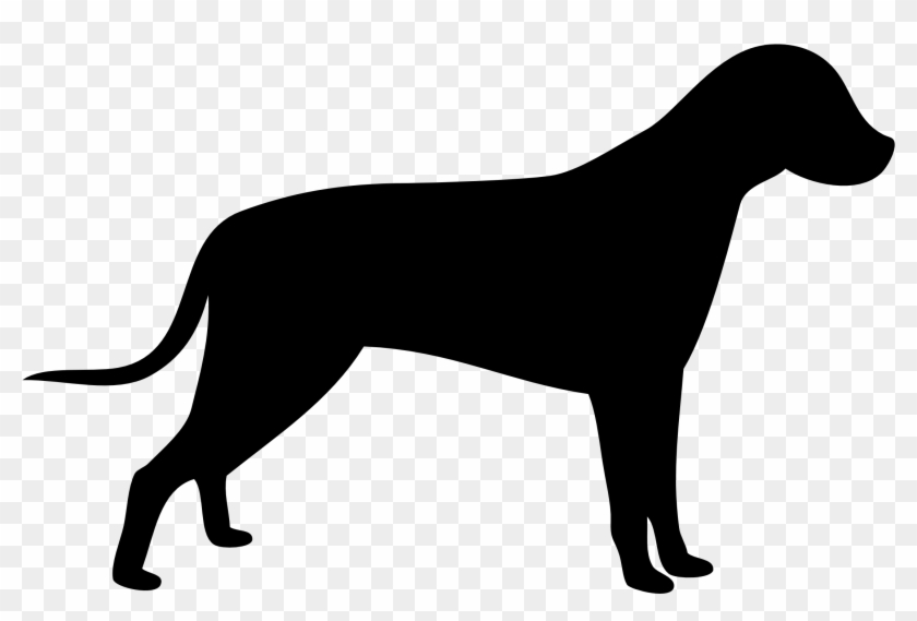 Standing Dog Silhouette Icons Png - Dog Vector Silhouette #25115
