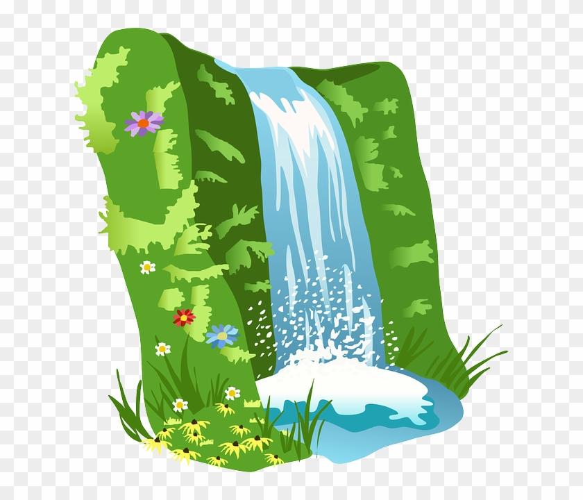 Clip Art - Waterfall Clipart #25138