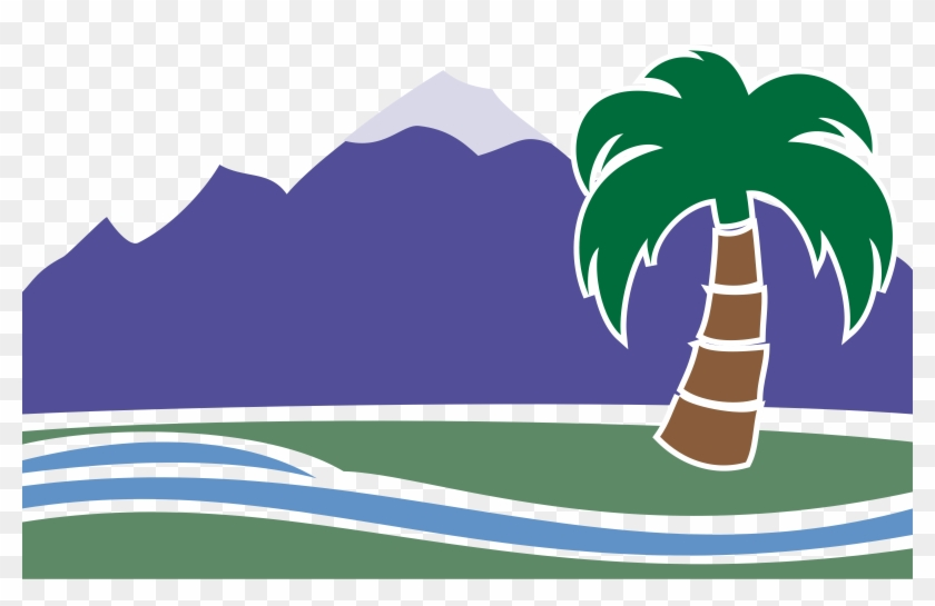 Beach Palm Tree Pictures - Oasis Clip Art #25181