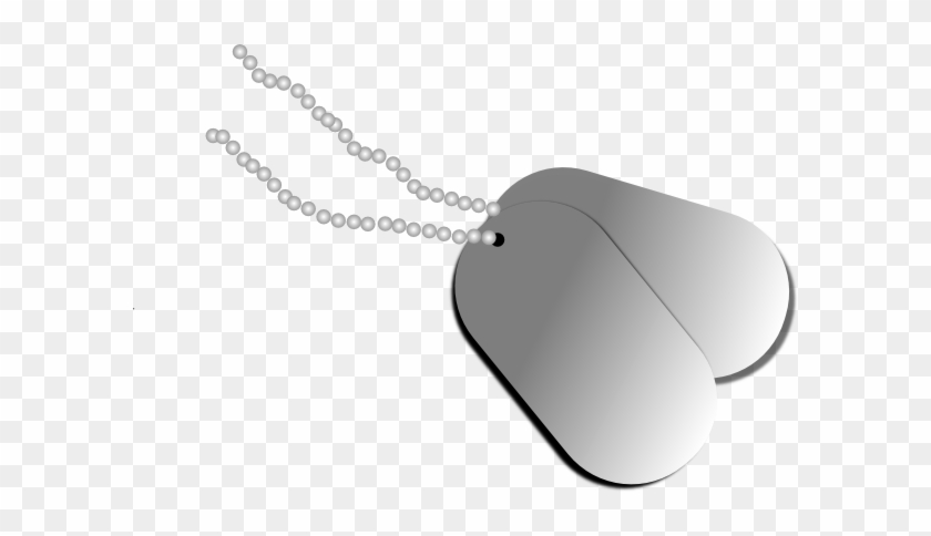 Dog Tags Clip Art At Clker Com Vector Clip Art Online - Military Dog Tags Clip Art #25201