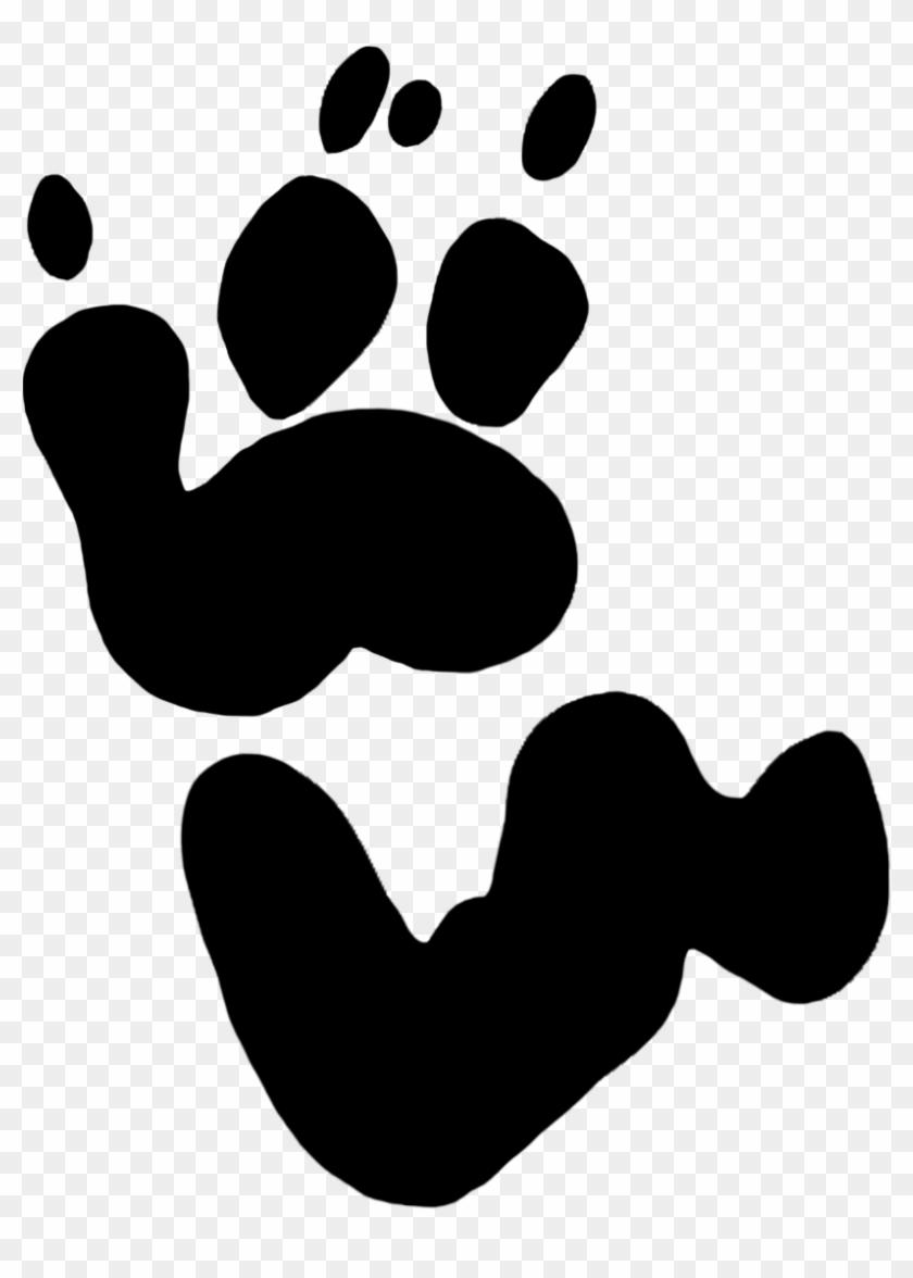 Koala Paw Prints Clipart - Koala Bear Koala Footprint #25221
