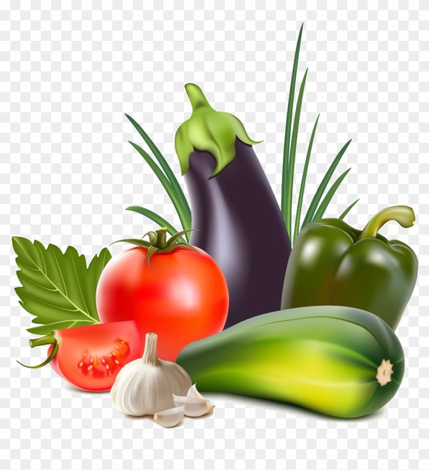 Organic Food Vegetable Fruit Clip Art - Vegetables Vector Png #25224