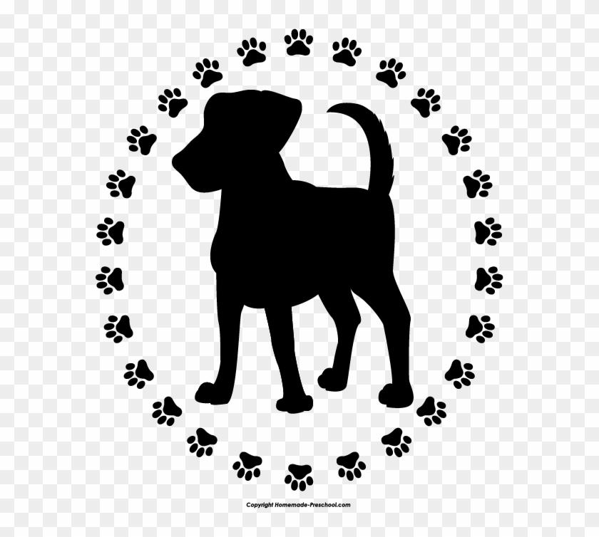 Dog Paw Prints Free Paw Prints Clipart - Dog With Paw Prints #25228